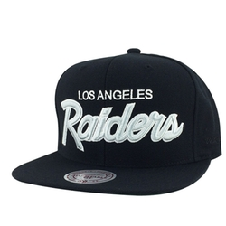 White Script Snapback Cap by Mitchell & Ness in Straight Outta Compton