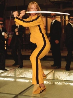 Custom Made Bright Yellow Fight Suit by Catherine Marie Thomas (Costume Designer) in Kill Bill: Vol. 1