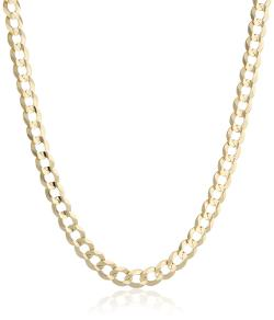 Men's 10k Yellow Gold Cuban Chain Necklace by Amazon Curated Collection in Anchorman 2: The Legend Continues