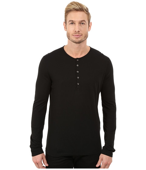 Long Sleeve Knit Henley by John Varvatos Star U.S.A. in Special Correspondents