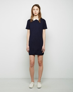 Contrast Collar Openwork Dress by Maison Kitsuné in We Are Your Friends