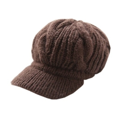 Slouchy Cabled Knit Newsboy Cap by Happyliya in Scream Queens