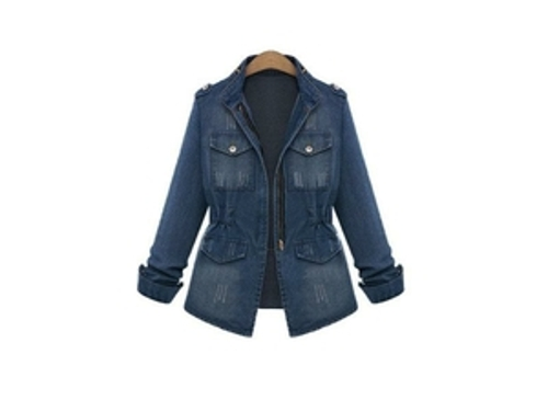 Slim Denim Coat Fashion Ladies Jacket by Newegg in Dope