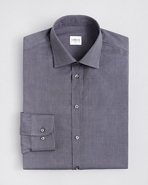 Textured Solid Dress Shirt by Armani Collezioni in (500) Days of Summer