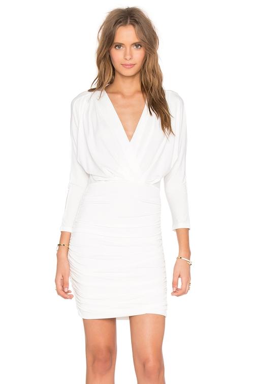 Jersey V Neck Long Sleeve Mini Dress by Bobi in Grace and Frankie - Season 2 Episode 8