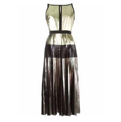 Pleated Metallic Dress by Proenza Schouler in Baywatch