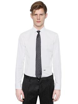 Michael Buble Cotton Poplin Shirt by DSQUARED in Kingsman: The Secret Service