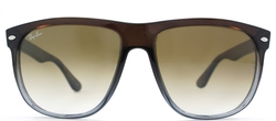 RB 4147 Flattop Boyfriend Brown Gradient Sunglasses by Ray Ban in Furious 7
