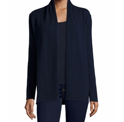 Modern Open Cashmere Cardigan by Neiman Marcus Cashmere Collection in Quantico