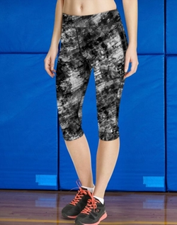 Absolute Workout Printed Knee Tight Capri Pant by Champion in Keeping Up With The Kardashians