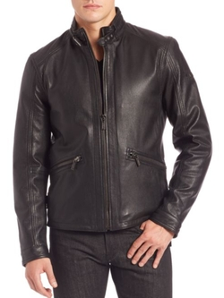 Leather Biker Jacket by Strellson in Teenage Mutant Ninja Turtles: Out of the Shadows
