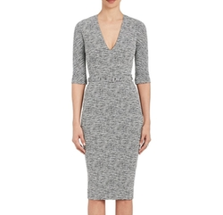 Cotton-Blend Belted Sheath Dress by Victoria Beckham in Will & Grace