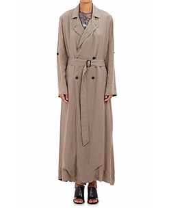 Double-Breasted Maxi Trench Coat by Raquel Allegra in Keeping Up With The Kardashians