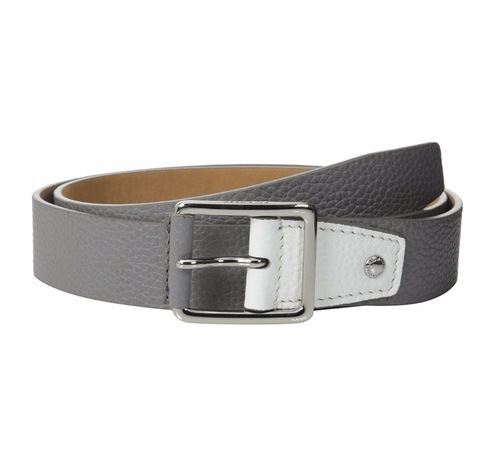 Flat Stitch Strap Pebble Leather Belt by Cole Haan in The Intern