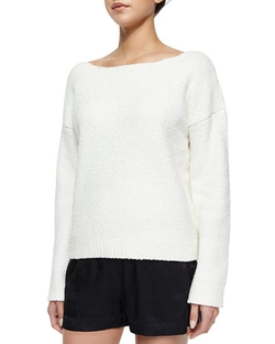 Boat-Neck Loose Knit Sweater by ATM in Ballers