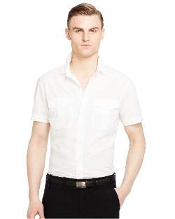 Cotton Sloan Military Shirt by Ralph Lauren in Fast Five