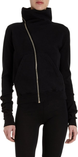 Asymmetric Zip Sweatshirt by Rick Owens in Keeping Up With The Kardashians