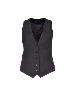 Button Closing Stretch Vest by Dolce & Gabbana in Man of Steel