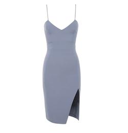 Raqa Grey Asymmetric Cut Bralet Dress by House of CB in The Bachelor