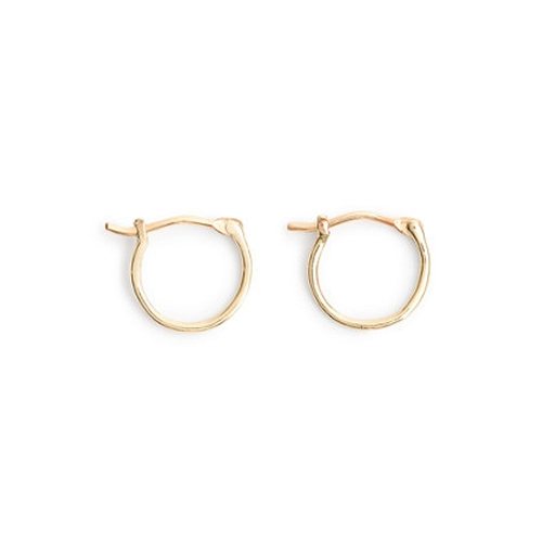 Gold Small Hoop Earrings by J.Crew in The Martian