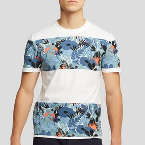 Floral Block Stripe Tee by Original Penguin in New Girl