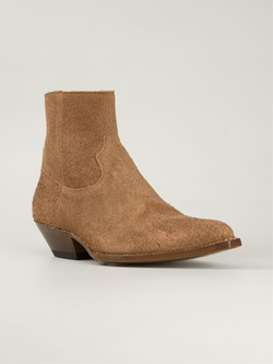 'Santiag' Western Boots by Saint Laurent in Empire