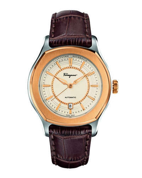 IP-Bezel Steel Automatic Watch by Salvatore Ferragamo	 in Top Five
