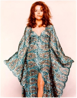Custom Made Silk and Sequins Caftan Dress by Marjory Cornelius (Costume Designer) in On Her Majesty's Secret Service