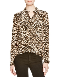 Leopard Print Slim Signature Shirt by Equipment in Keeping Up With The Kardashians
