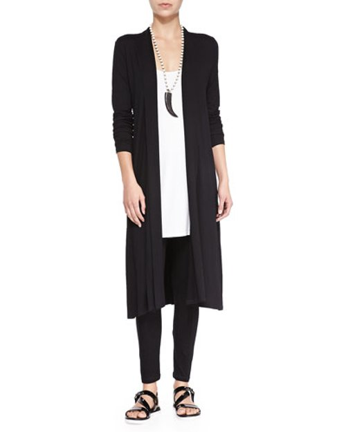 Long Shaped Jersey Cardigan by Eileen Fisher in That Awkward Moment