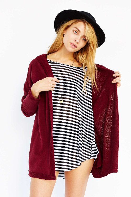 Hooded French Terry Cardigan by BDG in If I Stay