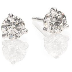 Diamond & Platinum Stud Earrings by Kwiat in That Awkward Moment