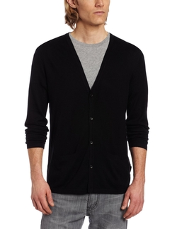 Sportswear Men's Slim Fit Silk Cotton Cardigan Sweater by Calvin Klein in Jersey Boys