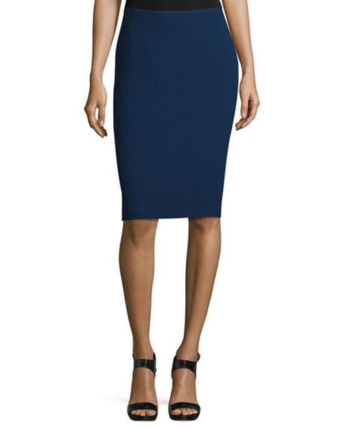 Mid-Rise Wool Pencil Skirt by Lafayette 148 New York in Suits - Season 6 Episode 8