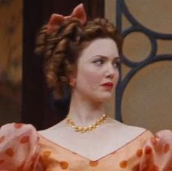 Custom Made Orange Floral Necklace (Anastasia) by Sandy Powell (Costume Designer) in Cinderella