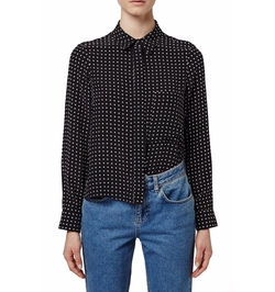 Polka Dot Silk Shirt by Topshop Boutique in Chelsea