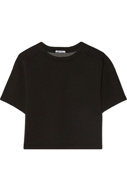 Cropped Scuba-Jersey Top by Alexander Wang in She's Funny That Way