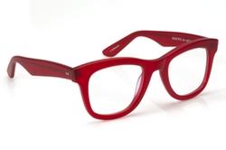 Charles II Matte Red Eyeglass by Krewe du Optic in Scream Queens