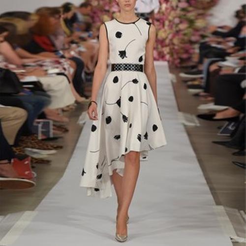 Floral Asymmetrical Dress by Oscar de la Renta in Suits - Season 5 Episode 7