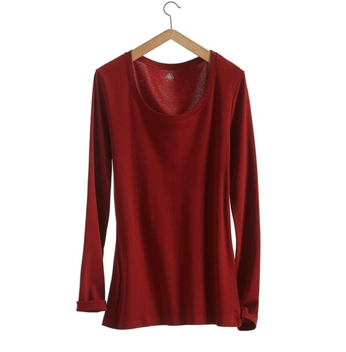 Long Sleeve Loose Cotton T-Shirt by Petit Bateau in Grace and Frankie