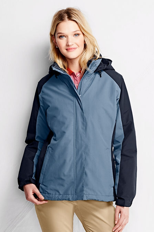Colorblock Squall Jacket by Lands' End in The 33