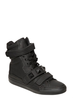 Leather High Top Sneakers by Giacomorelli in Empire
