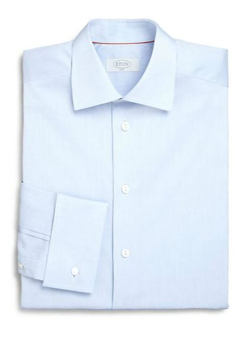 Slim-Fit Solid Twill Dress Shirt by Eton of Sweden in Entourage