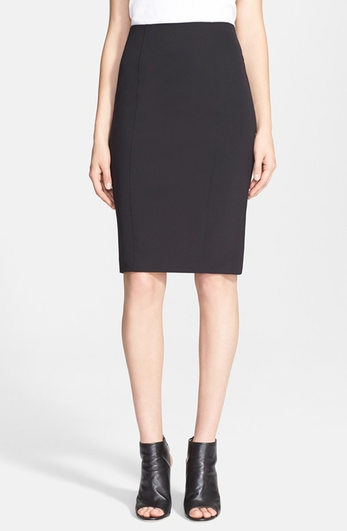 Back Zip Scuba Pencil Skirt by Veronica Beard in Scandal - Season 5 Episode 1
