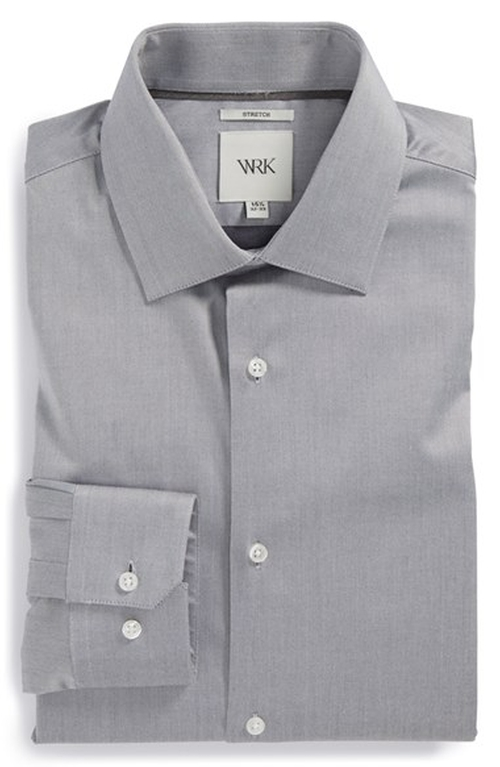 Trim Fit Stretch Twill Dress Shirt by W.R.K in Mr. & Mrs. Smith