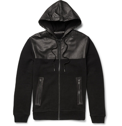 Luke Leather-Panelled Jersey Hoodie Jacket by Marc By Marc Jacobs in The Flash