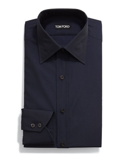 Classic Solid Dress Shirt by Tom Ford in Guilt