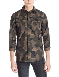 Rovic Long Sleeve Twin Pocket Shirt by G-Star Raw in Black-ish