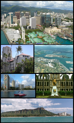 Hawaii, USA by Honolulu,  Oahu in Godzilla