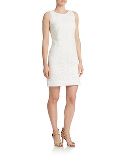 White Shift Dress by Vince Camuto in Empire